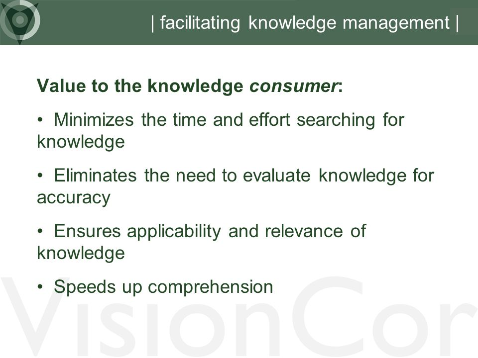 | facilitating knowledge management