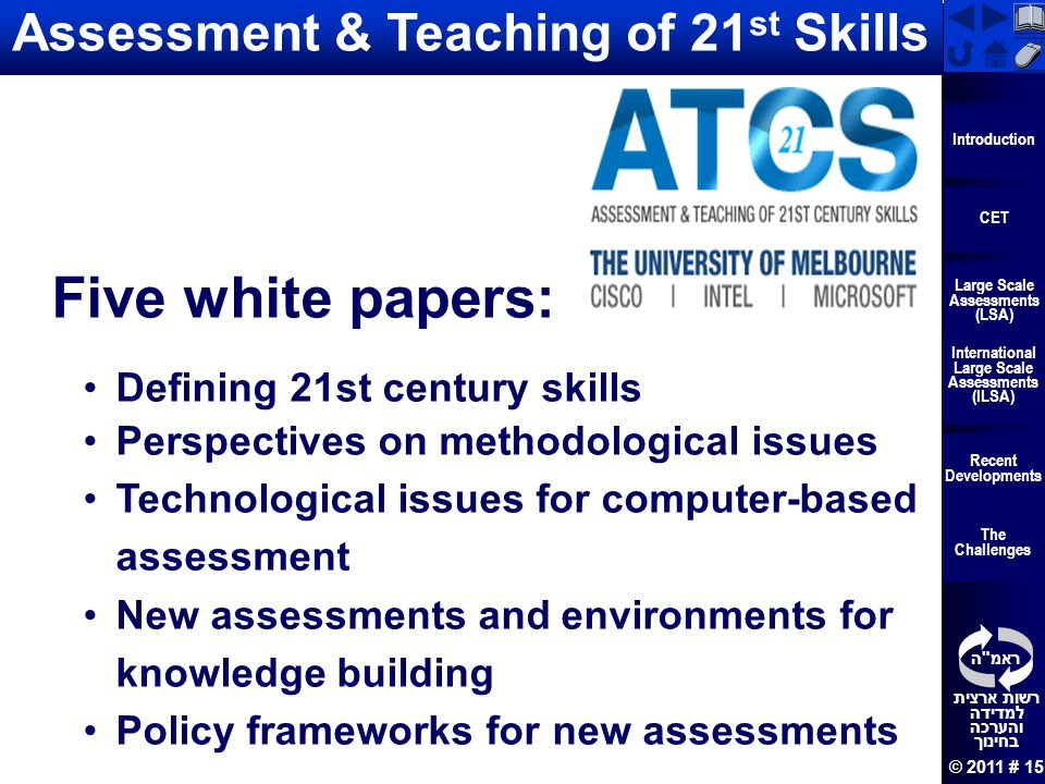 Assessment & Teaching of 21st Skills
