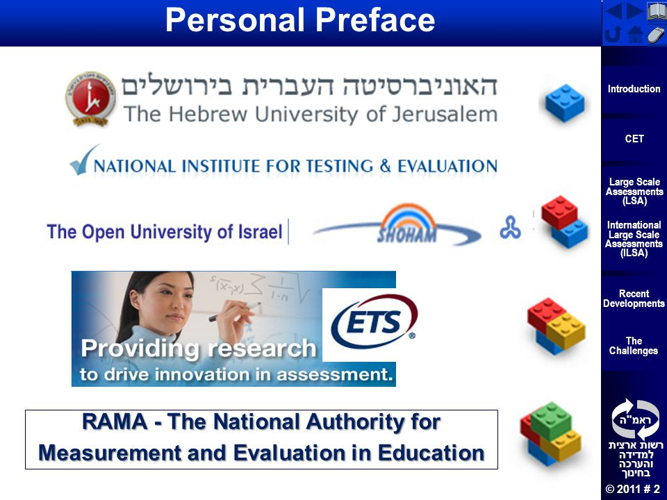 Personal Preface RAMA - The National Authority for