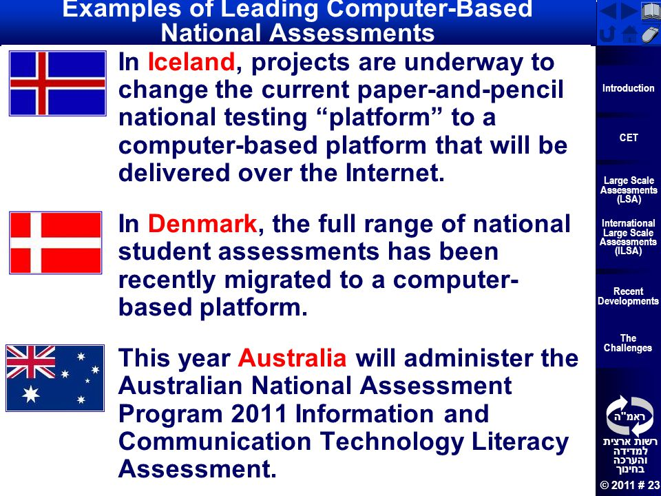 Examples of Leading Computer-Based National Assessments