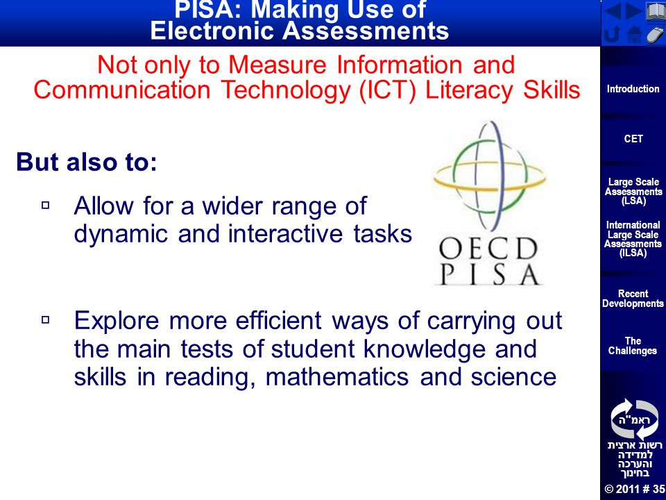 PISA: Making Use of Electronic Assessments
