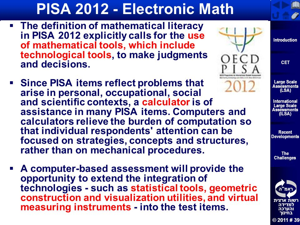 PISA 2012 - Electronic Math