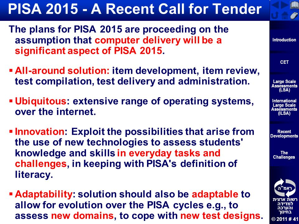 PISA 2015 - A Recent Call for Tender