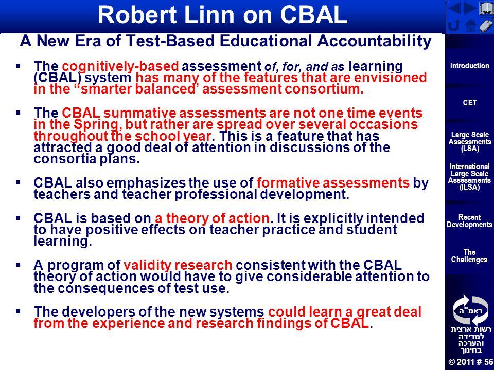 A New Era of Test-Based Educational Accountability
