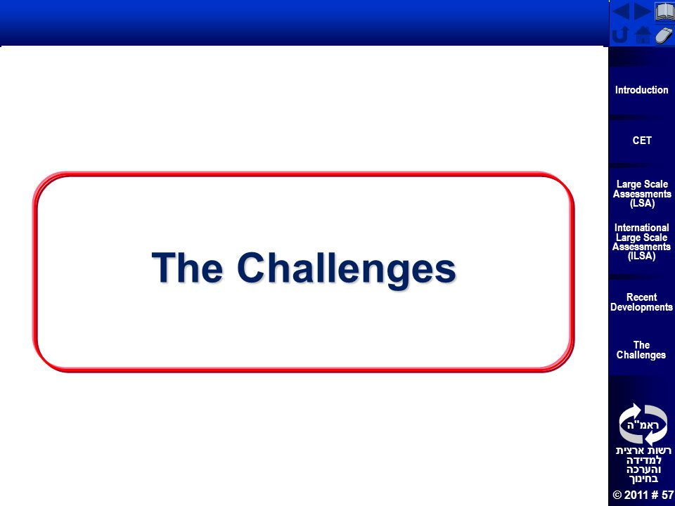The Challenges 57