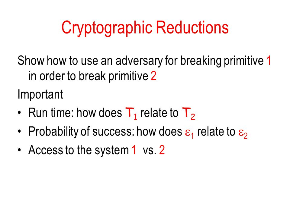 Cryptographic Reductions