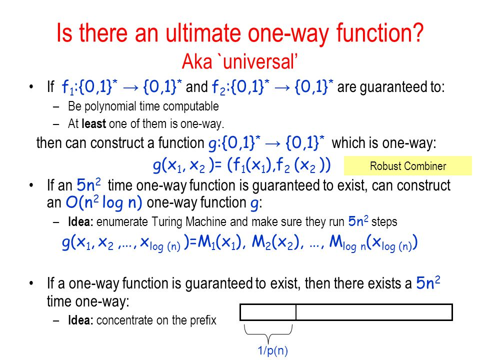 Is there an ultimate one-way function Aka `universal'