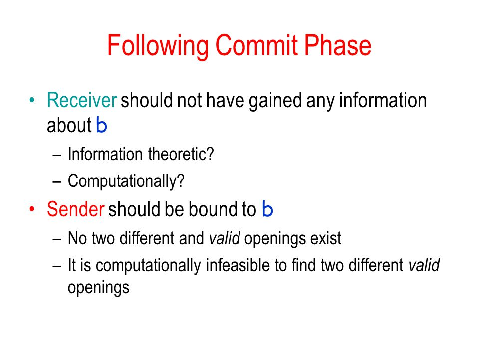 Following Commit Phase