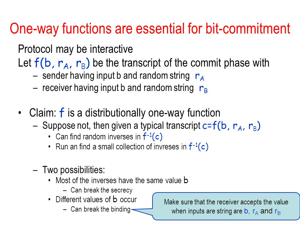 One-way functions are essential for bit-commitment