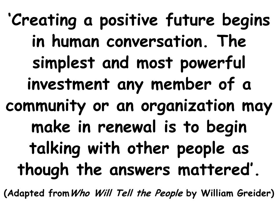 (Adapted fromWho Will Tell the People by William Greider)