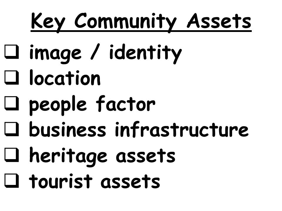 Key Community Assets image / identity location people factor