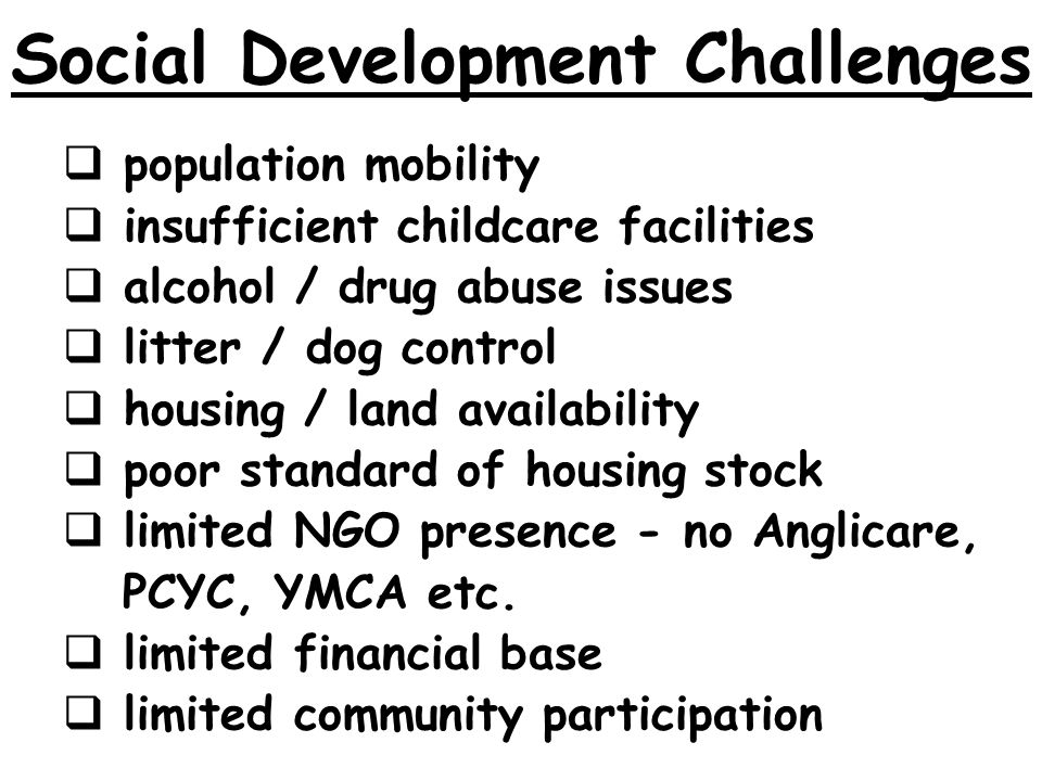 Social Development Challenges