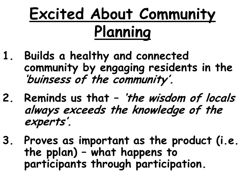 Excited About Community Planning