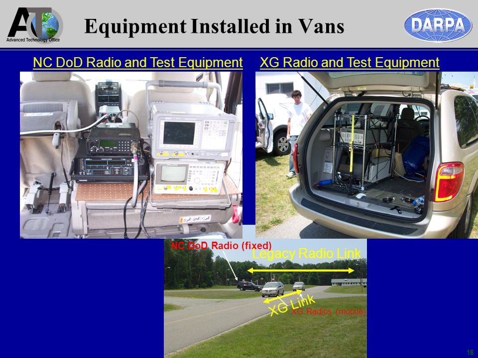 Equipment Installed in Vans