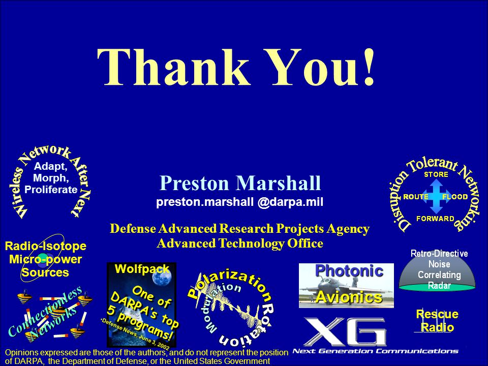 Thank You! Preston Marshall Photonic Avionics