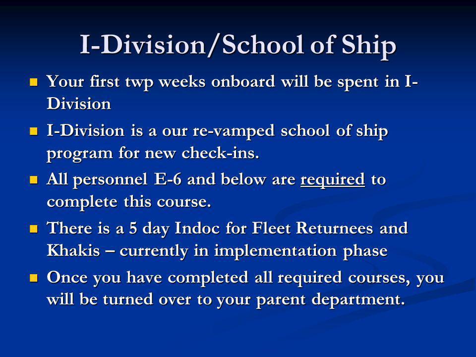 I-Division/School of Ship