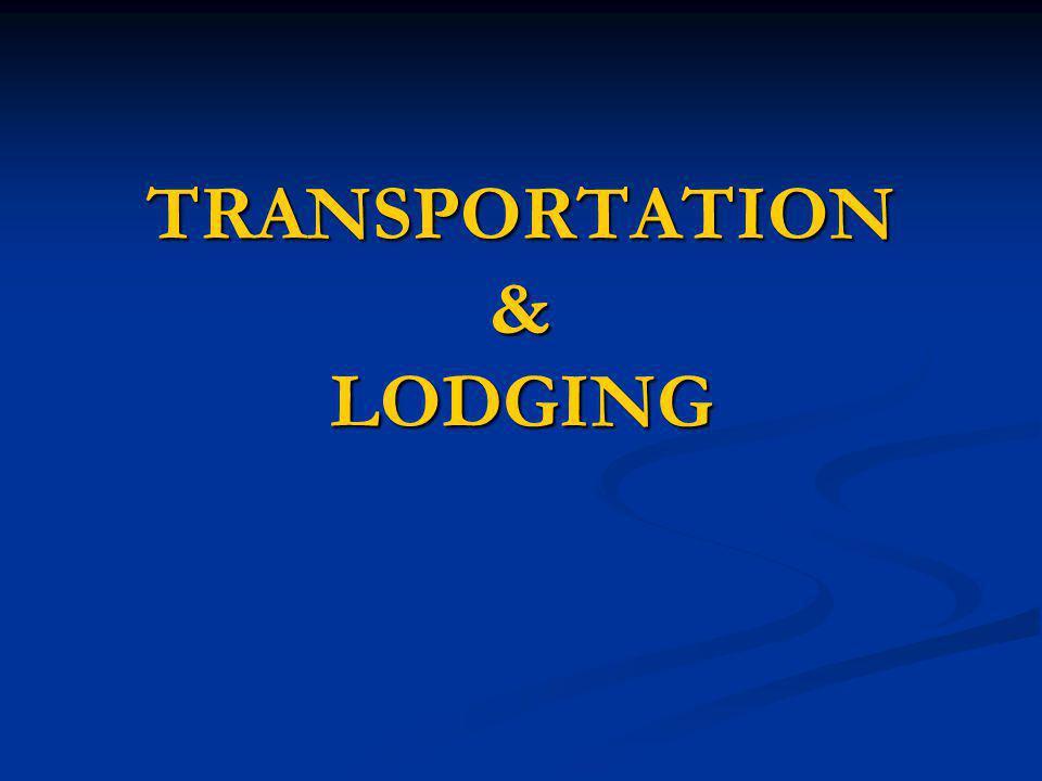 TRANSPORTATION & LODGING