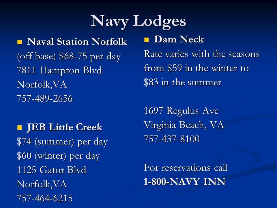 Navy Lodges Dam Neck Naval Station Norfolk