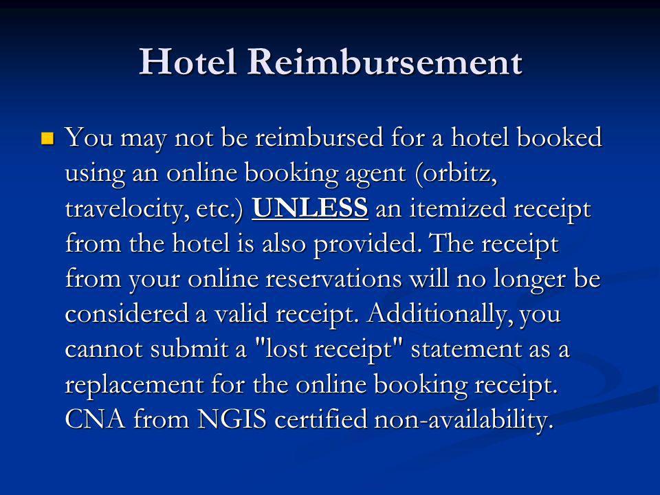 Hotel Reimbursement