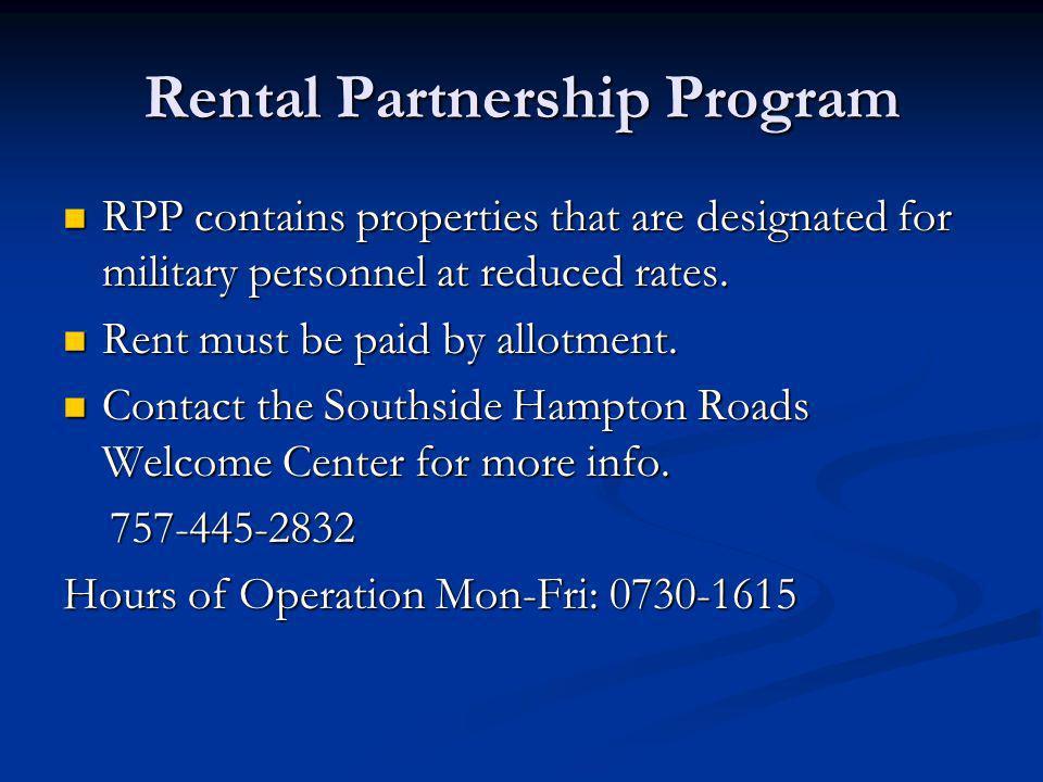 Rental Partnership Program