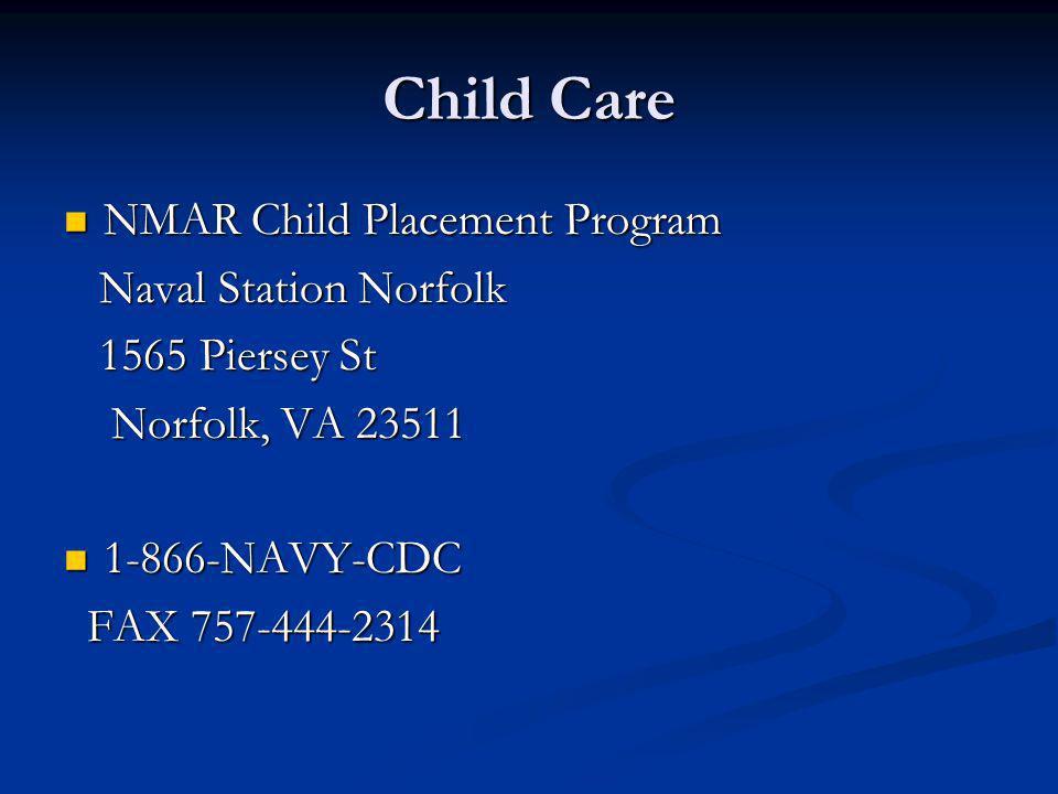 Child Care NMAR Child Placement Program Naval Station Norfolk
