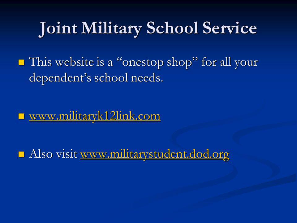 Joint Military School Service