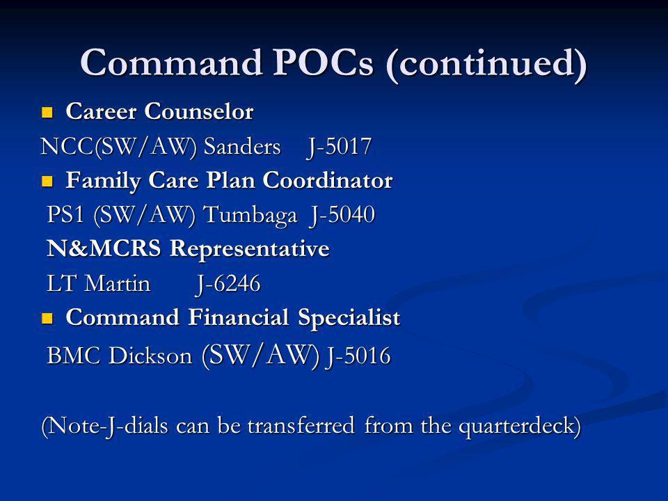 Command POCs (continued)
