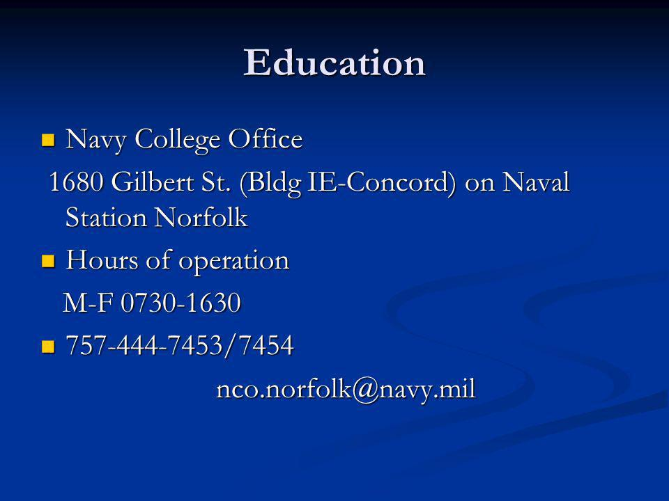 Education Navy College Office