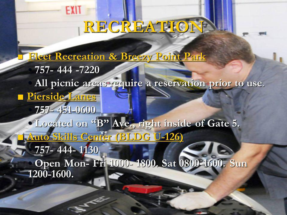 RECREATION Fleet Recreation & Breezy Point Park • 757- 444 -7220