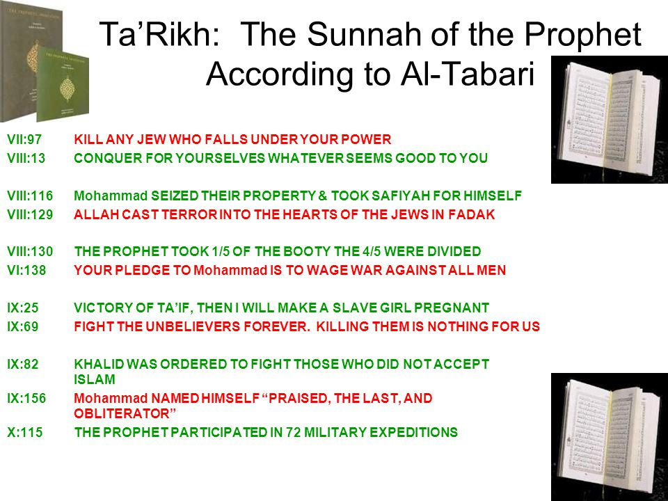 Ta'Rikh: The Sunnah of the Prophet According to Al-Tabari