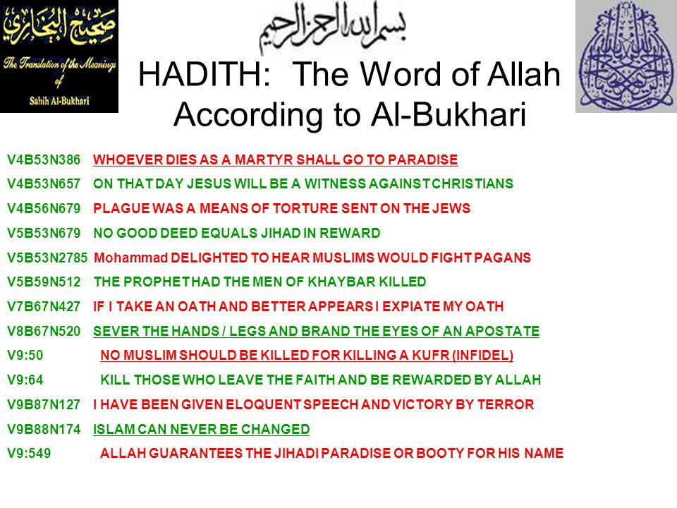 HADITH: The Word of Allah According to Al-Bukhari