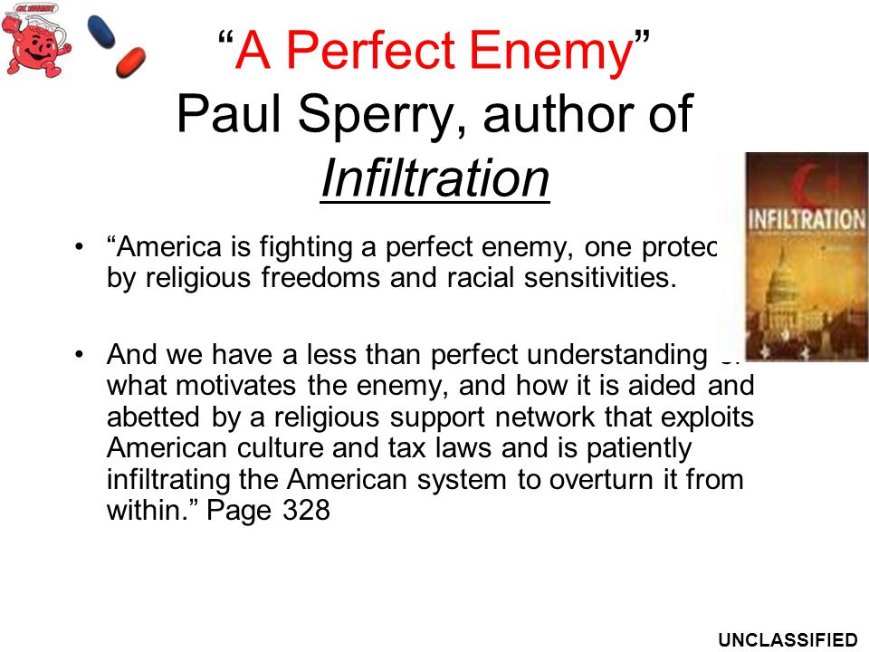 A Perfect Enemy Paul Sperry, author of Infiltration