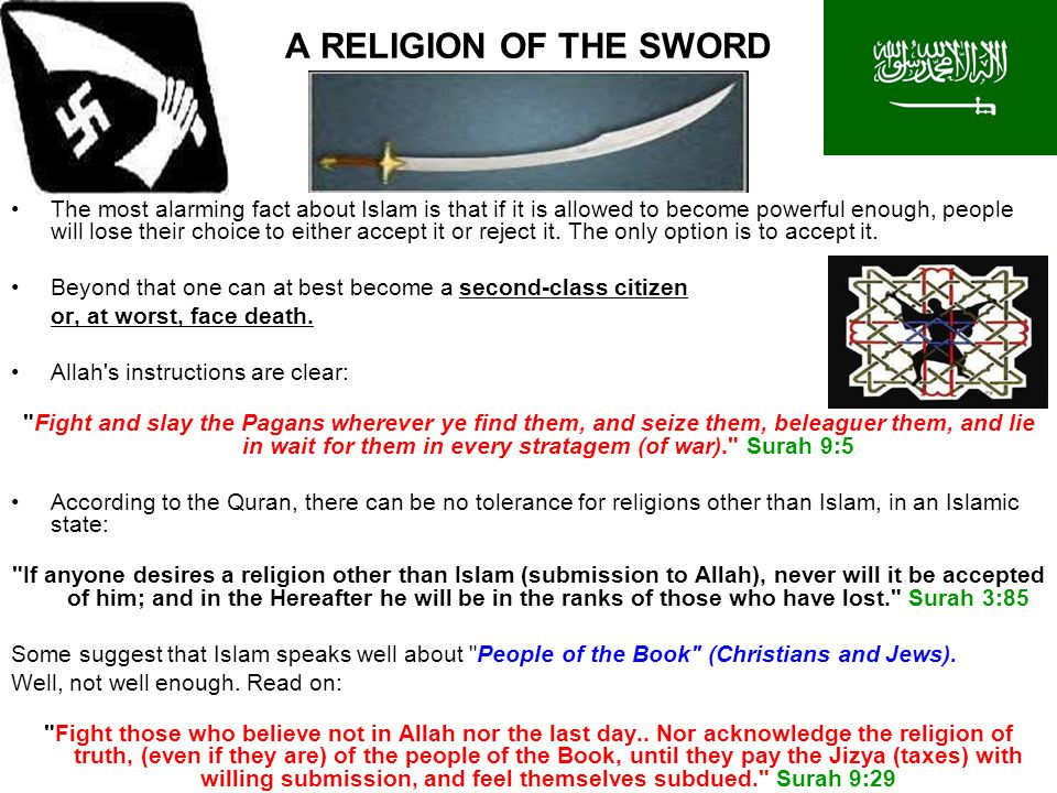 A RELIGION OF THE SWORD