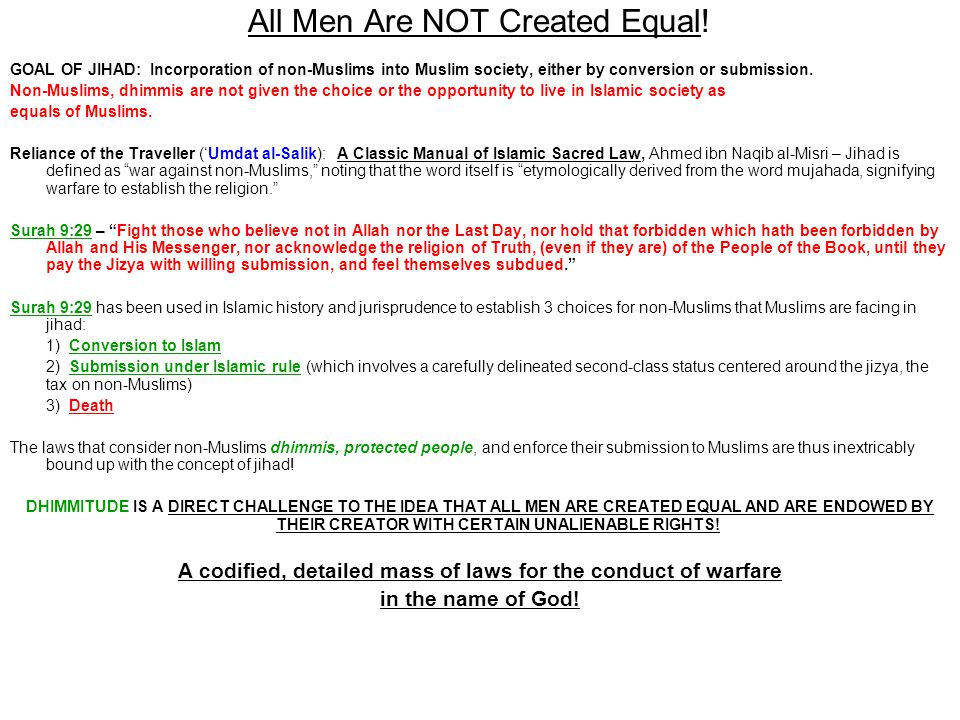 All Men Are NOT Created Equal!