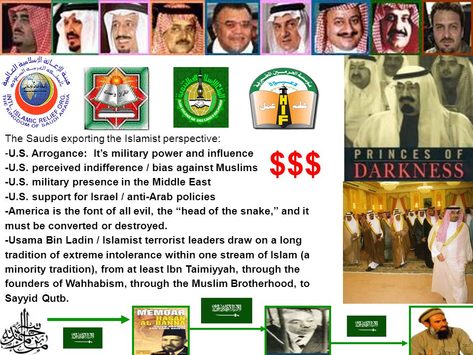 $$$ The Saudis exporting the Islamist perspective: