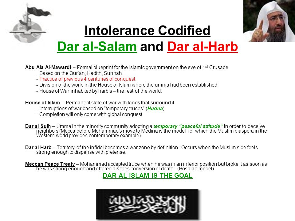 Intolerance Codified Dar al-Salam and Dar al-Harb
