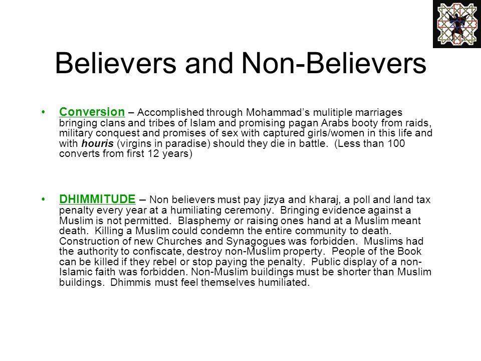 Believers and Non-Believers