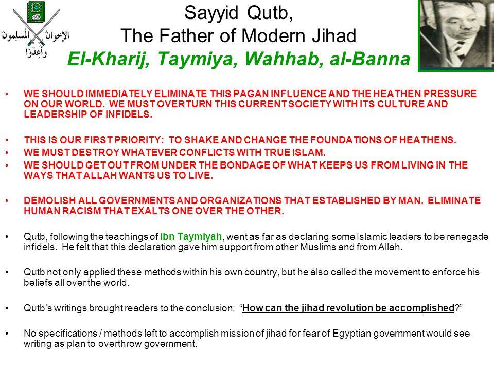 Sayyid Qutb, The Father of Modern Jihad El-Kharij, Taymiya, Wahhab, al-Banna