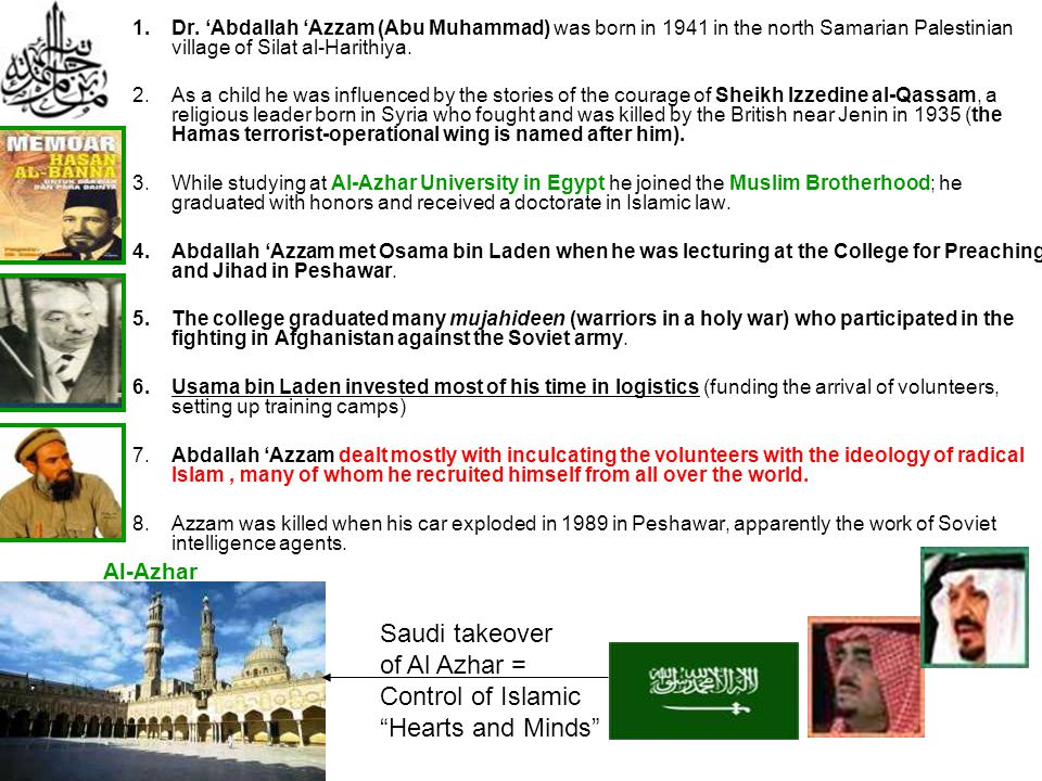 Saudi takeover of Al Azhar = Control of Islamic Hearts and Minds