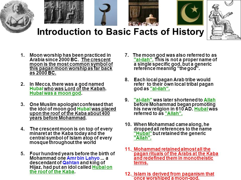 Introduction to Basic Facts of History