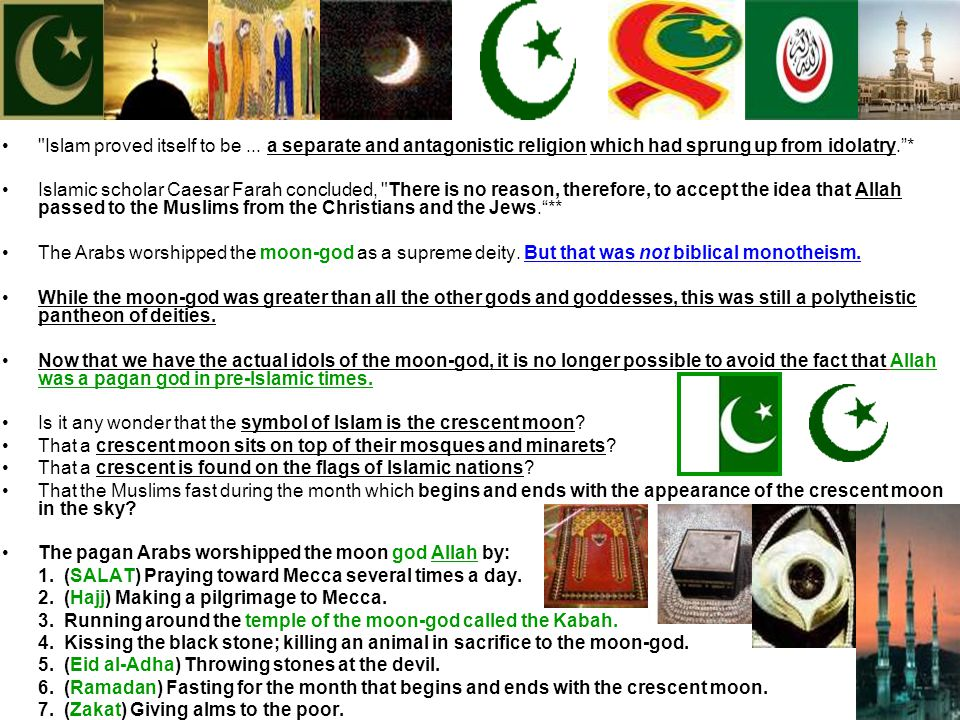 Is it any wonder that the symbol of Islam is the crescent moon