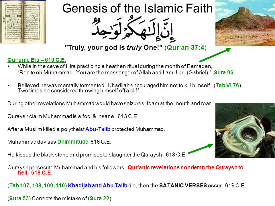 Genesis of the Islamic Faith