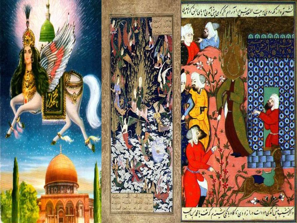 Buraq with a feminine face; Bait-ul Muqaddas