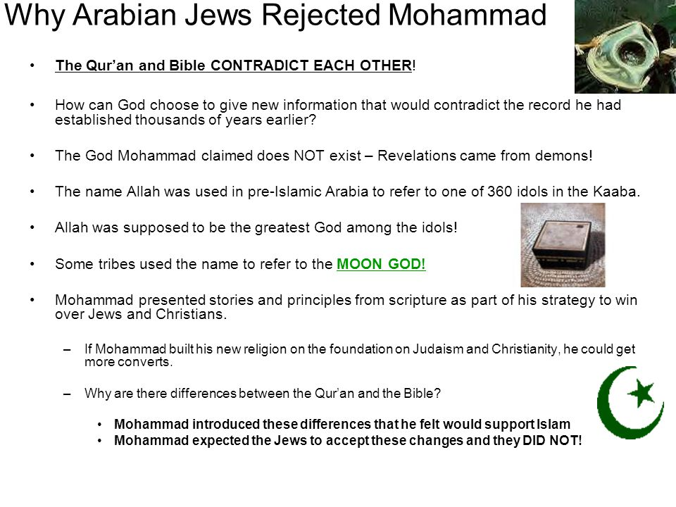Why Arabian Jews Rejected Mohammad