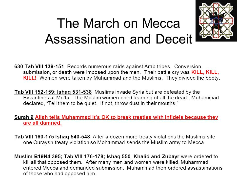 The March on Mecca Assassination and Deceit