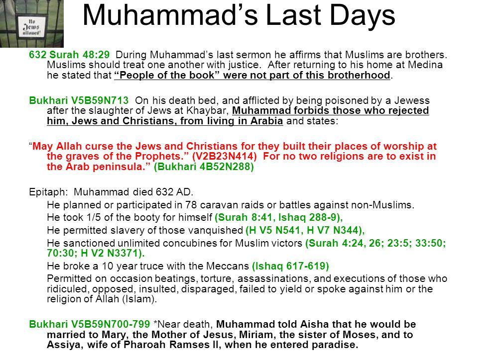 Muhammad's Last Days