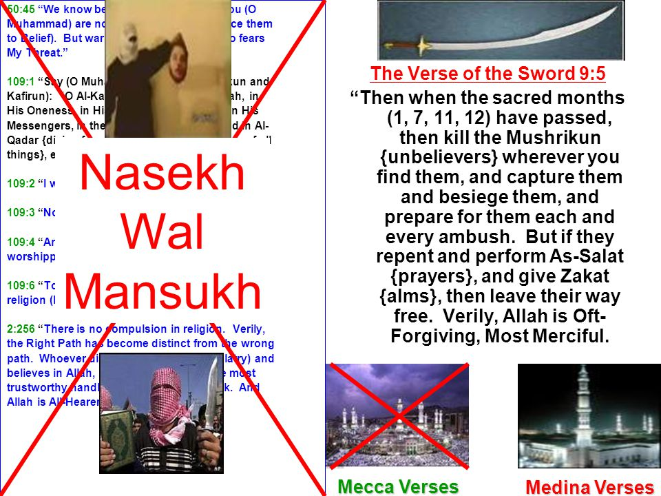 Nasekh Wal Mansukh The Verse of the Sword 9:5
