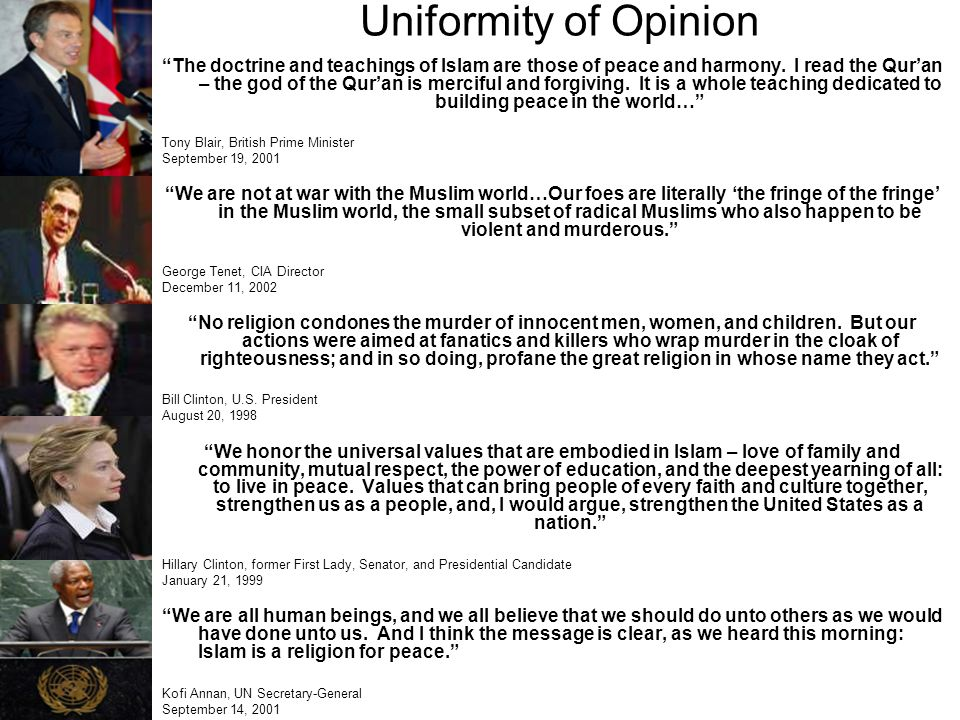 Uniformity of Opinion