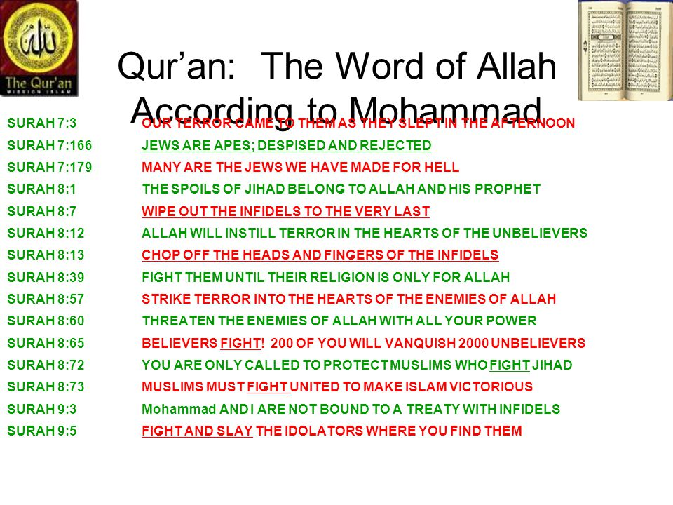 Qur'an: The Word of Allah According to Mohammad