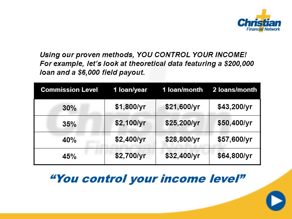 You control your income level